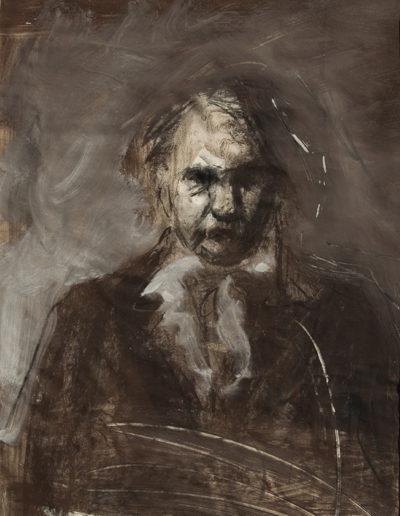 Omaggio a Victor Hugo, 2014 tempera e pastelli su carta, cm 50 x 37