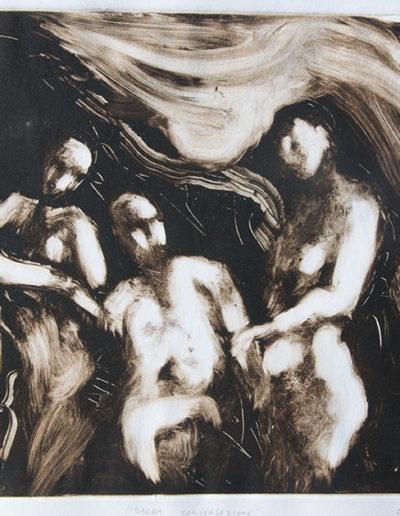 Sacra conversazione, 2011 monotipo, mm 340 x 490