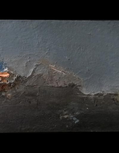 Emanuele Convento - Alta Valtiberina, 2019, olio su cartoncino, cm 16 x 49