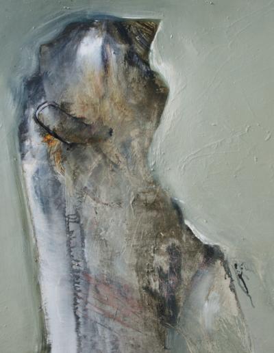 Emanuele Convento - Attesa verde, 2009, olio su tela, cm 80 x 90