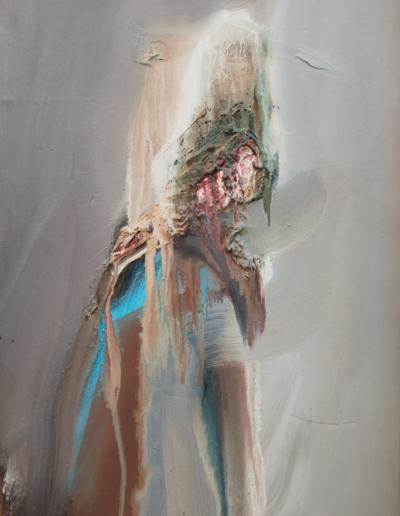 Emanuele Convento - Deposizione, 2013, olio su tavola, cm 73 x 36
