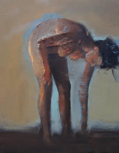 Emanuele Convento - Lasciando una traccia-Sara 2, 2020, olio su tela, cm 150 x 120