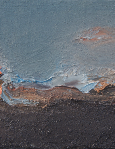 Emanuele Convento - Macugnaga, 2019, olio su tavola, cm 16 x 25