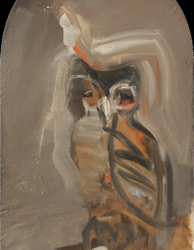Emanuele Convento - Noctuae, 2013, olio su tela, cm 220 x 130