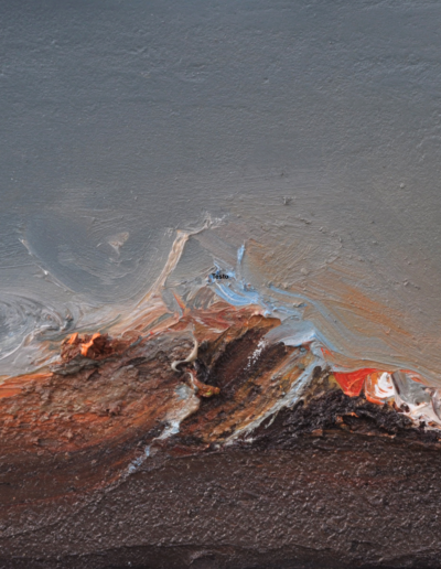 Emanuele Convento - Paesaggio + Mostro marino 2, 2019, olio su tavola, cm 16 x 25
