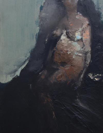 Emanuele Convento – Sam 2, 2019, olio magro su tavola, cm 64 x 31
