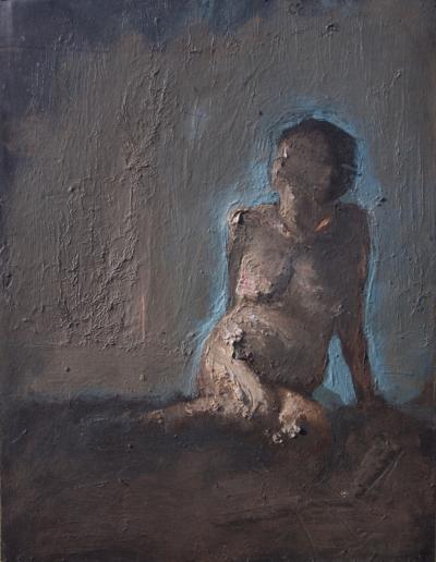 Emanuele Convento - Sara, 2018, tempera grassa, cm 56 x 43