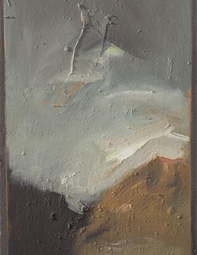 Emanuele Convento - Valtellina 2, 2015, olio su tavola, cm 91 x 40